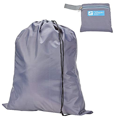 HOMEST Travel Laundry Bag, Compact and Lightweight, Grey