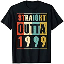 Straight Outta 1999 Vintage 22 Year Old 22nd Birthday Gift T-Shirt