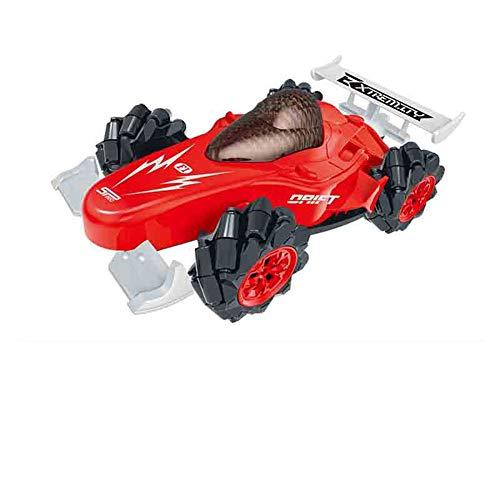 BAOZUPO RC Stunt Car para los niños, 4WD 2.4 GHz Control Remoto Vetrunt Vehicle - 360 ° Acción de Giro Drift Racing Relering Interior Outdoor (Color : Rojo)
