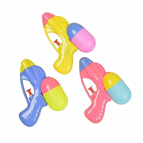 LAMCE Mini Trompeta para niños, Pistola de Agua para baño, Pistola de Juguete, Pistola de Agua para bebé, niño, bebé, Playa, Agua, niña