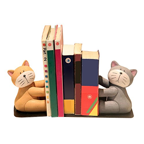 Cat Nonskid Bookends for Kids
