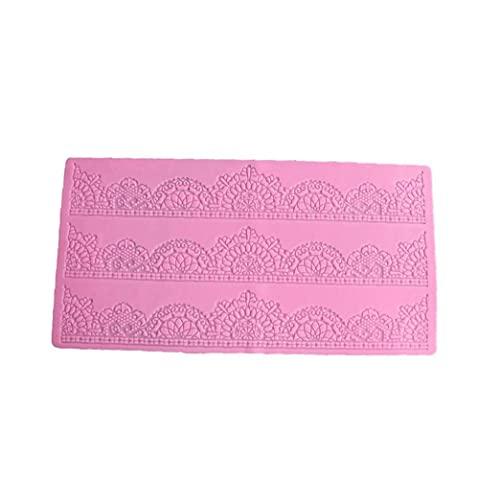 1PC la torta de la decoración del cordón de silicona molde de la torta de chocolate pan de molde del molde (rosa), Decoración de Pasteles Bolsa