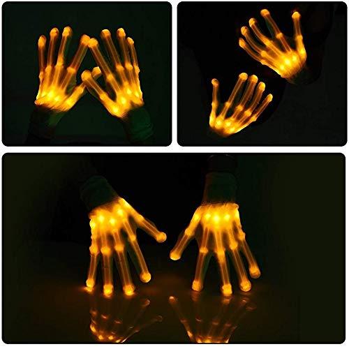 guanti led Lychee Guanti LED Cotton Finger Luminosi Guanti con 6 modalità di Brillanti