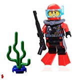 LEGO City Deep Sea Scuba Diver Minifigure - Loose
