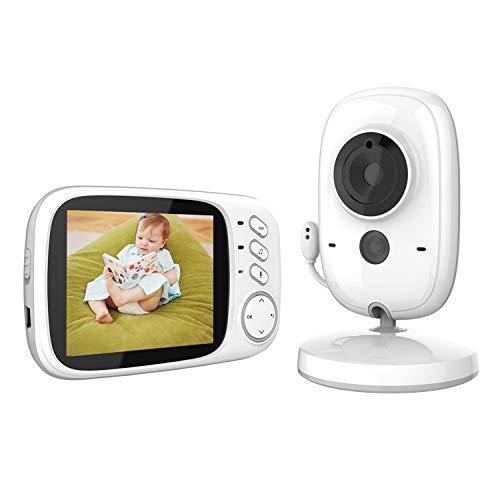 MARKBOARD Babyfoon, Draadloze Babyfoon, Babyfoon met Camera, Babyfoon met Intercomfunctie, Digitaal met Temperatuursensor, Slaapliedjes VOX-Functie