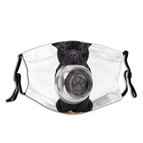 ELIENONO Tiere Bulldogge Französische Hunde Schwarze Bilder Schüssel Teller Fotos Weißer Hintergrund Farben Geschirr Tisch Ware Hunde Staubwaschbarer wiederverwendbarer Filter und wiederverwendbarer