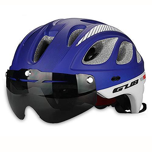 VFSD Casco de Ciclismo Casco de Motociclista Ciclista Casco de Gafas Unisex (Color : C)