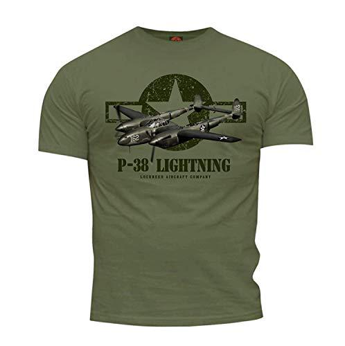 Quaint Point World War II P-38 Lightning Flugzeug Herren T-Shirt KSM25 (XL)