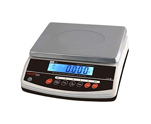VisionTechShop TVD-60 Digital Bench and Counter Scale, Lb/Oz/Kg/g Switchable, 60lb Capacity, 0.01lb Readability, Counting and Percentage Mode, Single Display, NTEP Legal for Trade, CC# : 20-032
