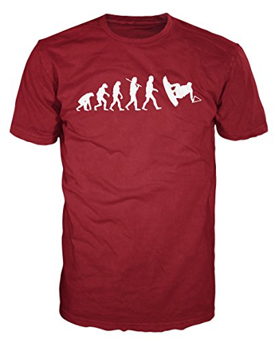 Wakeboarding Evolution Funny T-shirt (Brick Red) (XXL)
