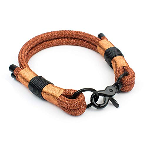 Glitzer Halsband für Hunde (Luxus Edition) in Bronze & Schwarz