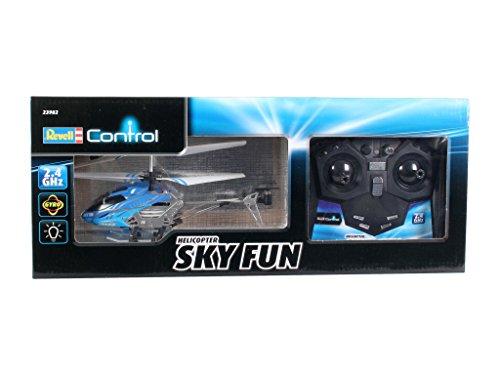Revell Control RC Helikopter, ferngesteuerter Hubschrauber für Einsteiger, 2,4 GHz Fernsteuerung, einfach zu fliegen, Gyro, stabiles Chassis, LED-Beleuchtung, USB-Ladegerät – SKY FUN 23982 - 2