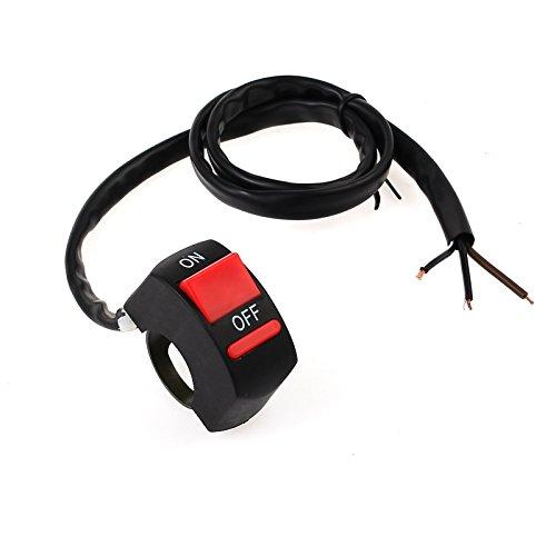 PROZOR Interruttore Switch ON OFF Adatto a 7/8' Manubrio Moto per Fari Anteriori Regolare Modalità