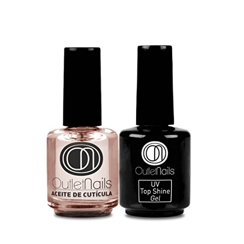 Pack Top Shine 15ml + Nail Oil 15ml / Ultra Brillo