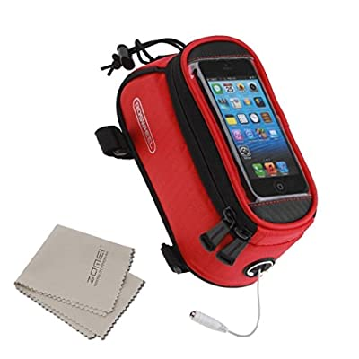 Handlebar Bike Rack Bag Touch Screen Mobile Phone Package Bike Accessories Bag Front Top Frame Pouch for iPhone Samsung LG Sony Nexus HTC + ZOMEI Clean Cloth