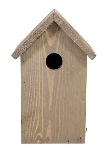 mgc24 Nistkasten - wetterfeste Nisthilfe aus Holz für heimische Wildvögel, 15,5 x 14 x 25 cm, braun