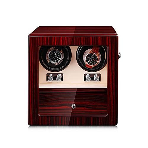 FACAZ Caja enrolladora automática, Reloj silencioso Giratorio, Caja de Madera para Reloj, Almohada Ajustable para Reloj, Reloj Adecuado para 6 u 8 (tamaño: A)