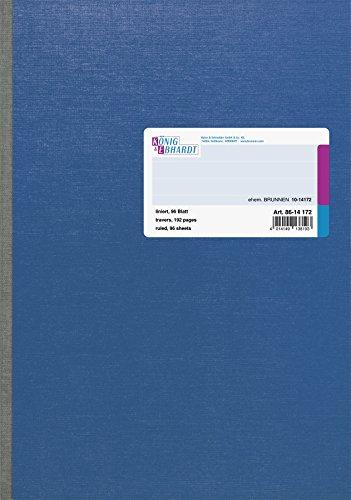 König & Ebhardt 8614172-601SB96 Kladden (DIN A4, 70 g/qm, 96 Blatt, liniert) blau