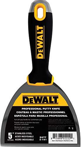DEWALT 5 Putty Knife   Stainless Steel w/Soft Grip Handle   DXTT-2-141