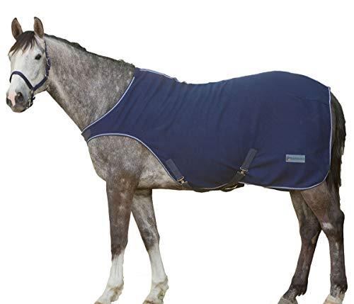 Reitsport Amesbichler Economic Fleece Führmaschinendecke Führanlagendecke Walkerdecke Nierendecke für Pferde dunkelblau, Größe: 125 cm
