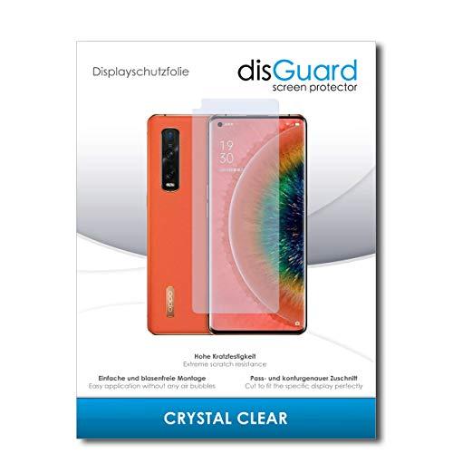 disGuard Bildschirmschutzfolie [Crystal Clear] kompatibel mit Oppo Find X2 Pro [3 Stück] Kristallklar, Transparent, Unsichtbar, Extrem Kratzfest, Anti-Fingerabdruck - Panzerglas Folie, Schutzfolie