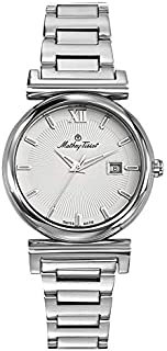 Mathey Tissot Elegance Women's White Dial Stainless Steel Band Watch - D410AI