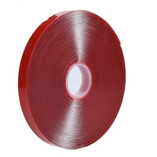 Cinta de montaje transparente – Cinta adhesiva de espuma acrílica de 30 m x 10 mm, resistente al calor, perfecta para tiras de luz LED, canal, automóvil, hogar y más