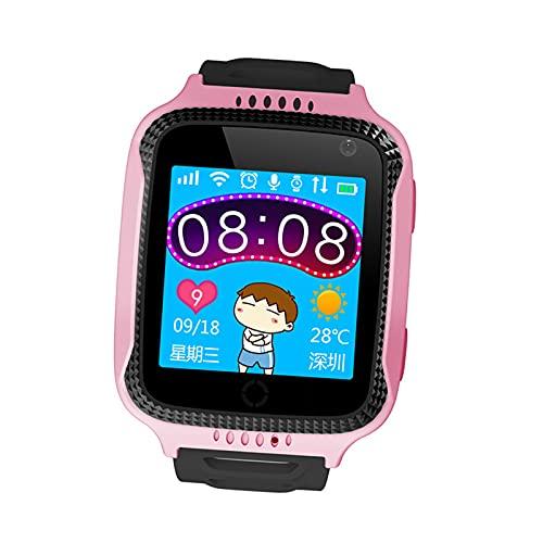 prasku Reloj Inteligente con GPS para niños con localizador GPS, cámara, Chat de Voz, Contador de Pasos para Vacaciones de niños - Rosado