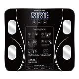 Chunyang Körperfett BMI Skala-Digital-Mensch-Gewicht-Skala Boden LCD Display Body-Index...