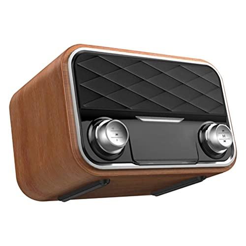 MILISTEN Draadloze Houten Luidspreker Draagbare Speaker Retro Hout Speaker Voor Thuis Outdoor Reizen