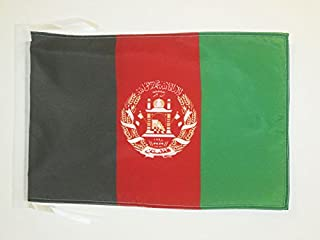 AZ FLAG Afghanistan Flag 18'' x 12'' Cords - Afghan Small Flags 30 x 45cm - Banner 18x12 in