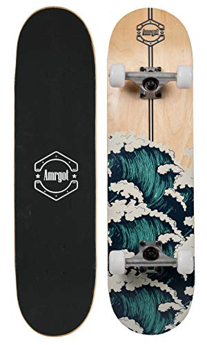 Skateboards Pro 31 inches Complete Skateboards for Teens, Beginners, Girls,Boys,Kids,Adults by WiiSHAM