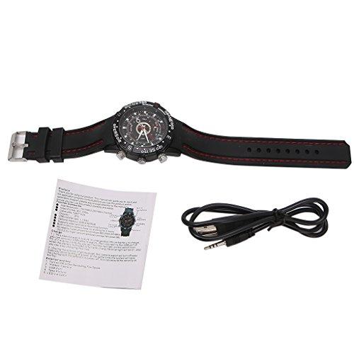 Reloj de Pulsera espía Impermeable de 8GB Mini videocámara de cámara de Video HD DVR Oculta