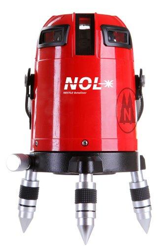 Nestle 16100001 Octoliner, lijnlaser met 360 graden horizontaal, 4 verticale lijnen, lotpunt beneden, IP54, ± 1,5 mm op 10 m, bereik 30 m