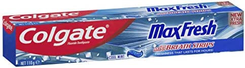 Colgate Max Fresh Breath Toothpaste with Mini Breath Strips Cool Mint