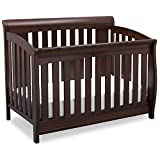 Delta Children Clermont 4-in-1 Convertible Baby Crib, Chocolate