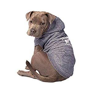 Canada Pooch Cozy Caribou Sherpa Lined Fleece Dog Hoodie, Charcoal, Size 12 (11-13″ Back Length)