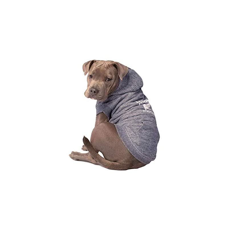 """dog supplies online canada pooch cozy caribou sherpa lined fleece dog hoodie, charcoal, size 12 (11-13"""" back length)"""