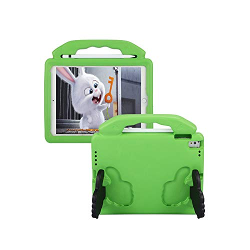 QZPM Kids Ipad Mini Case Light Weight Shockproof Handle Stand Protective Case for Suitable for Ipad Air1/2/PRO 9.7'/Ipad EVA Protective Case,Green
