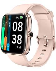 YONMIG Smart horloge met Hartslagmeter Sport Modes Fitness Tracker 5ATM Waterdichte Activiteit Tracker voor Kids Mannen Vrouwen