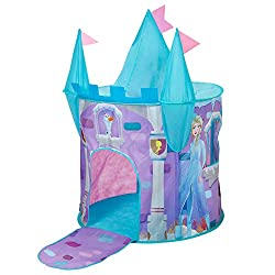 Castle tent comes with 3 turrets, fold down drawbridge and peep through windows Quick and easy instant play - pops up in a flash with easy to insert rods Folds flat for simple storage Ideal for active adventures, inside and out Sparks imagination and...
