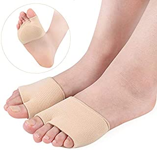 SKUDGEAR Metatarsal Gel Cushions Foot Pain, Blister, Callus Prevention Forefoot Sleeves (1 Pair)