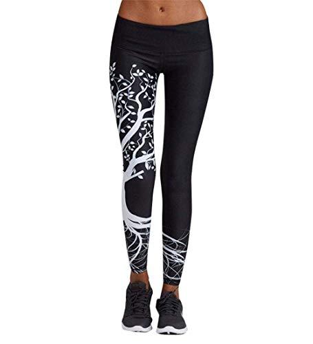 Pantaloni Yoga Donna Sport Tuta Donna Pilates Loose Fit Jogging Sportivi Pantaloni Spandex Push Up Leggings Atletico Fitness (Nero, M)