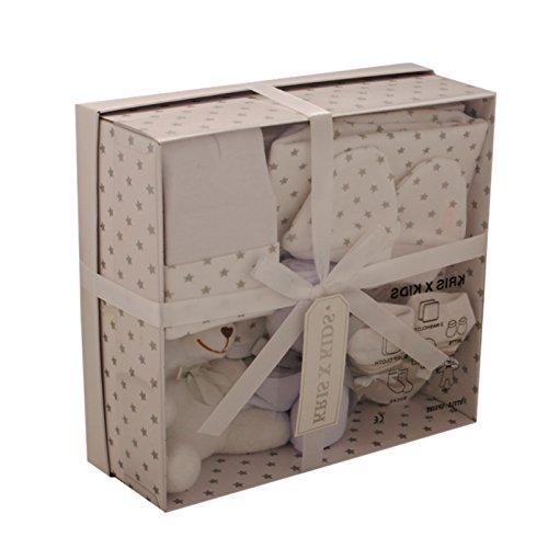 Schön verpacktes Geschenkset mit Kuscheltier für Babys von Kris X Kids