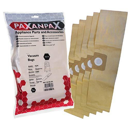Paxanpax VB470 VB470-Bolsas compatibles para Rowenta 'ZR81'...