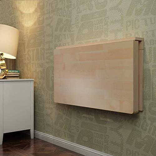 ZQH Escritorio para ordenador montado en la pared de la familia – Mesa plegable de madera maciza