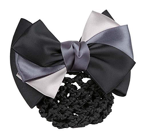 Elegant Ladies Snood Net Barrette Hairnets Housse de cheveux, Noir #01