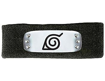 Naruto Shippuden Metal Plate Leaf Village Symbol Black Headband