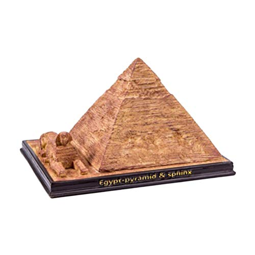 BESPORTBLE Resin Egyptian Pyramid Statue Model Sphinx Figurine World Famous Building Sculpture Desktop Display Figure Travel Collectible Souvenir for Table Decoration