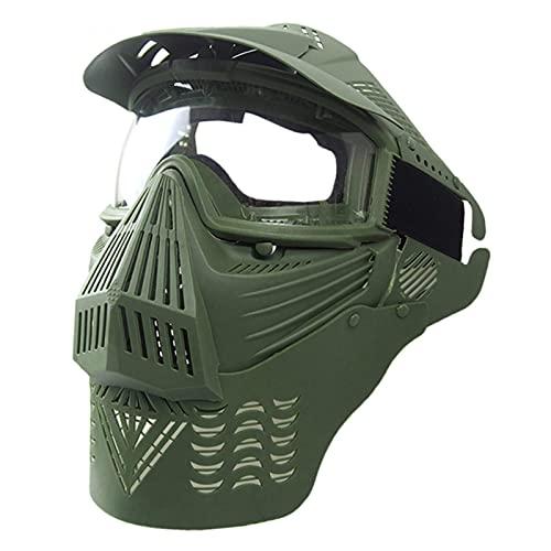 ZHOUSAN Máscara de Cara Completa de Paintball táctico Equipo de Caza de Campo al Aire Libre Disparo de Combate Militar Gafas Airsoft Máscara Protectora de Boca-GN